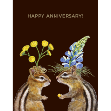 Hester and Cook Hester and Cook Anniversary Card Gold Foil - ''Happy Anniversary!''