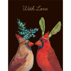 Hester and Cook Hester and Cook Cardinal Love Card - Gold Foil - ''With Love''