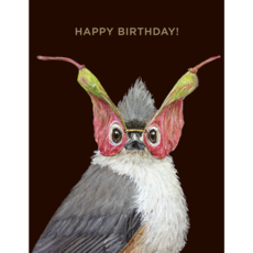Hester and Cook H&C Birthday Titmouse Card - Gold Foil - ''Happy Birthday!''