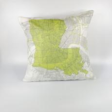 Ellen Macomber Ellen Macomber CSMT 12 x 12 LA Map NOLA Pillow
