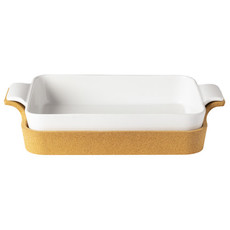 Casafina Rectangle Baker with Cork Tray- White