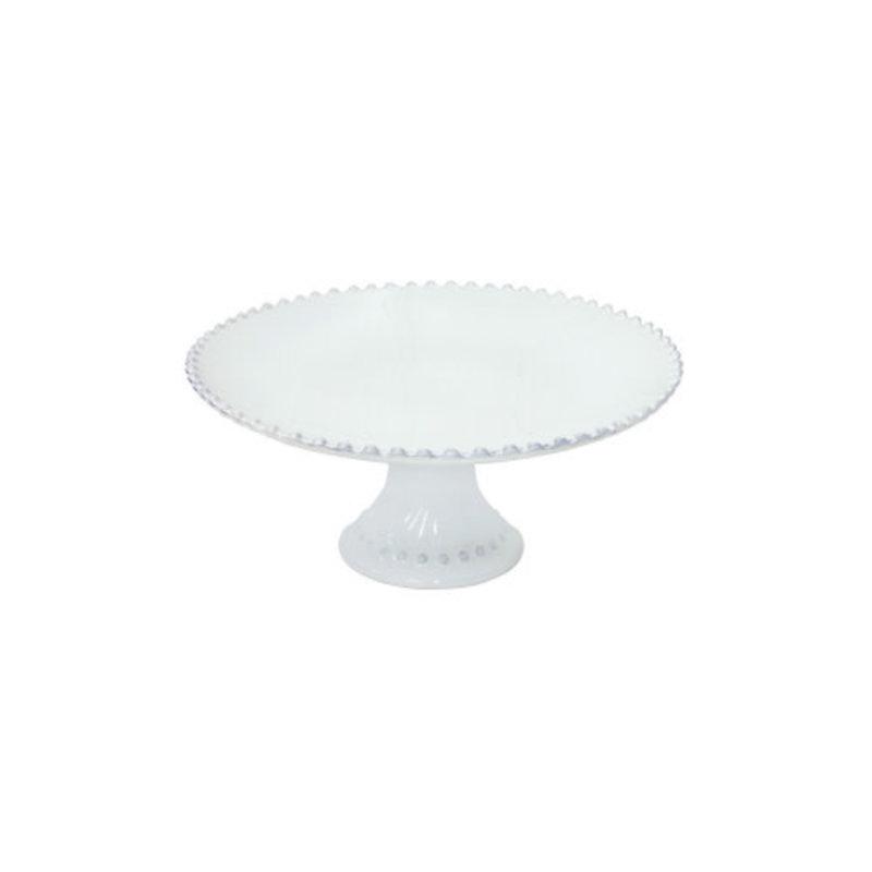 Casafina 11'' CAKE STAND (1) PEARL WHITE