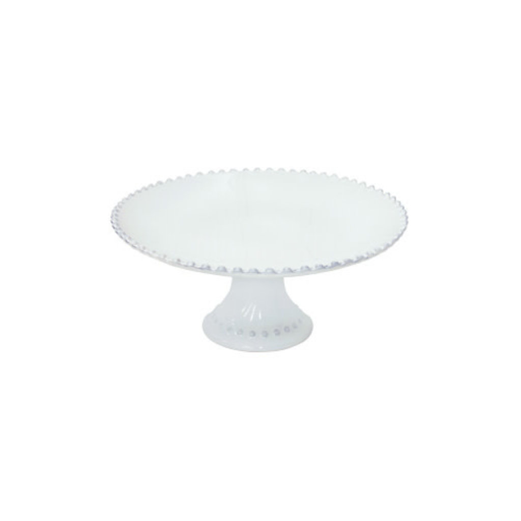 Casafina FOOTED PLATE PEARL WHITE