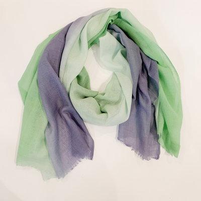 Oliphant Ombre Green Scarf Wool/Silk Blend