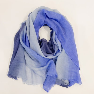 Oliphant Ombre Navy Scarf Wool/Silk Blend