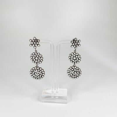 Oliphant Cara Silver Drop Earring