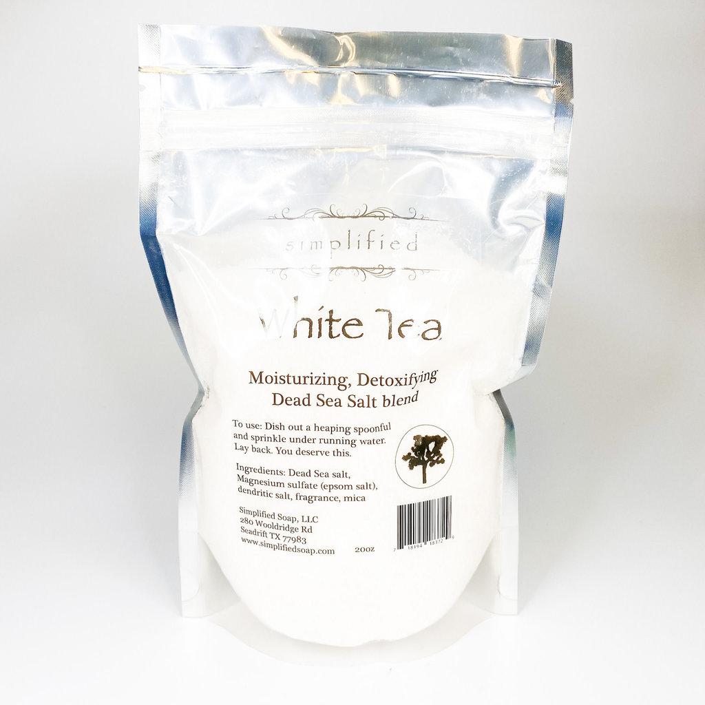 Simplified Salt White Tea Bath Salt Blend (20 oz)