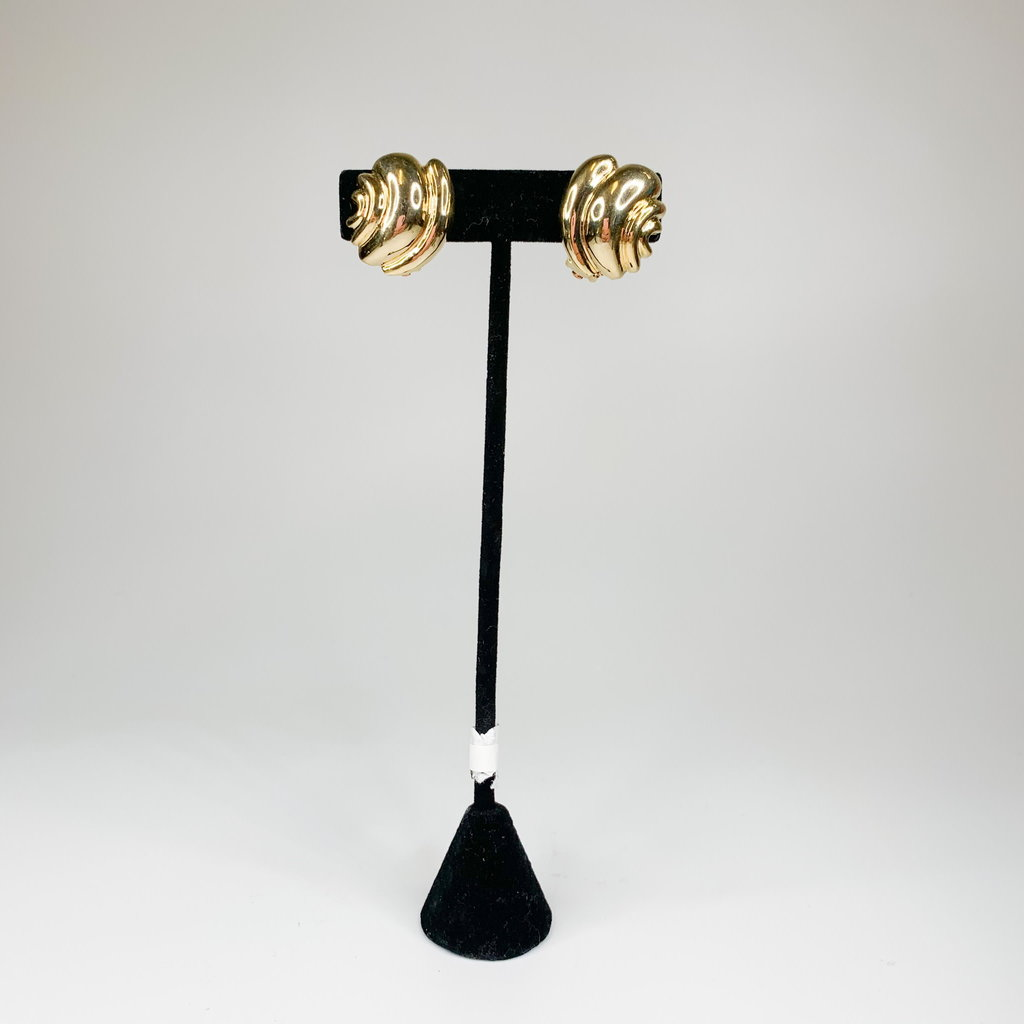 Lordane Gold Puff Earring 83E7095