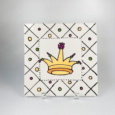 Jan Salzer Jan Salzer Mardi Gras Trinket Plate Crown