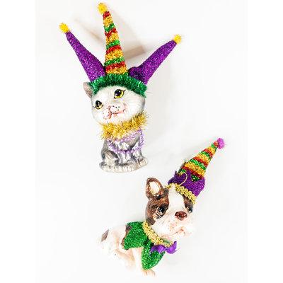 One Hundred 80 Degrees Mardi Gras Dog/Cat Ornament