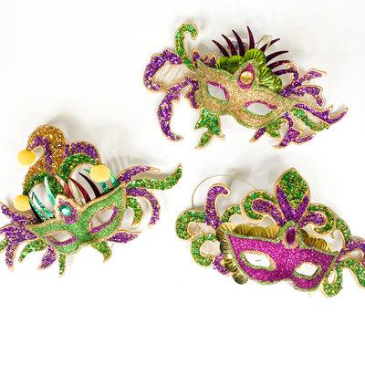One Hundred 80 Degrees Mardi Gras Mask Ornament
