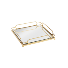 Ganz Gold Loop Mirror Tray Large