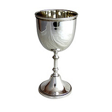 Corbell Gadroon Chalice Cup Silver Plate