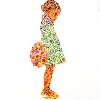 Cynthia Kolls Consignment Cynthia Kolls Girl with Sunflowers CSMT