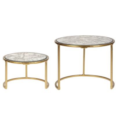 Ganz Gold and Mirror Cake Stand Large