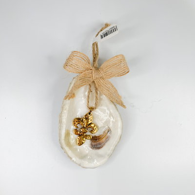 Michelle Savoy Oyster Fleur de Lis Ornament