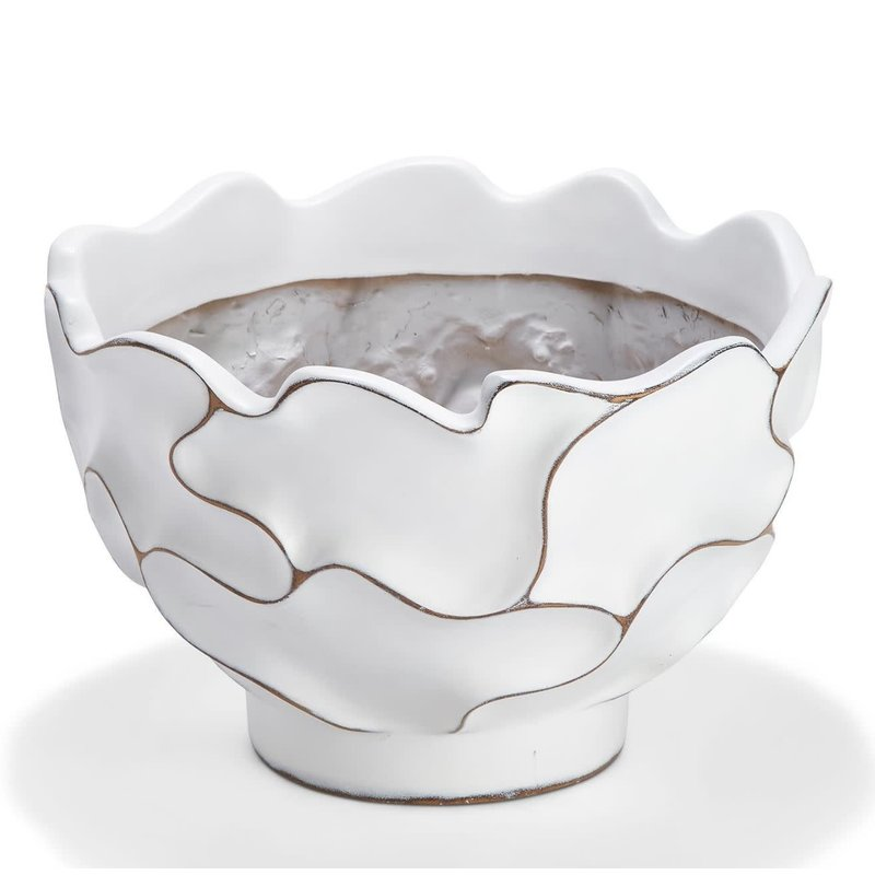 Two's Company Squiggly Decorative Cachepot