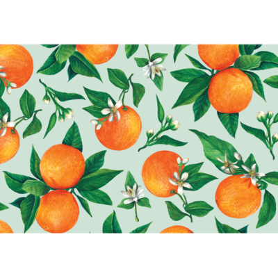Hester and Cook Orange Orchard Placemat - 24 Sheets