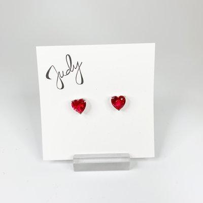 Preciosa Preciosa 523763 Red Heart Earrings