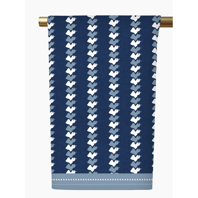 Honey and Hank Louisiana Stripe Tea Towel-navy