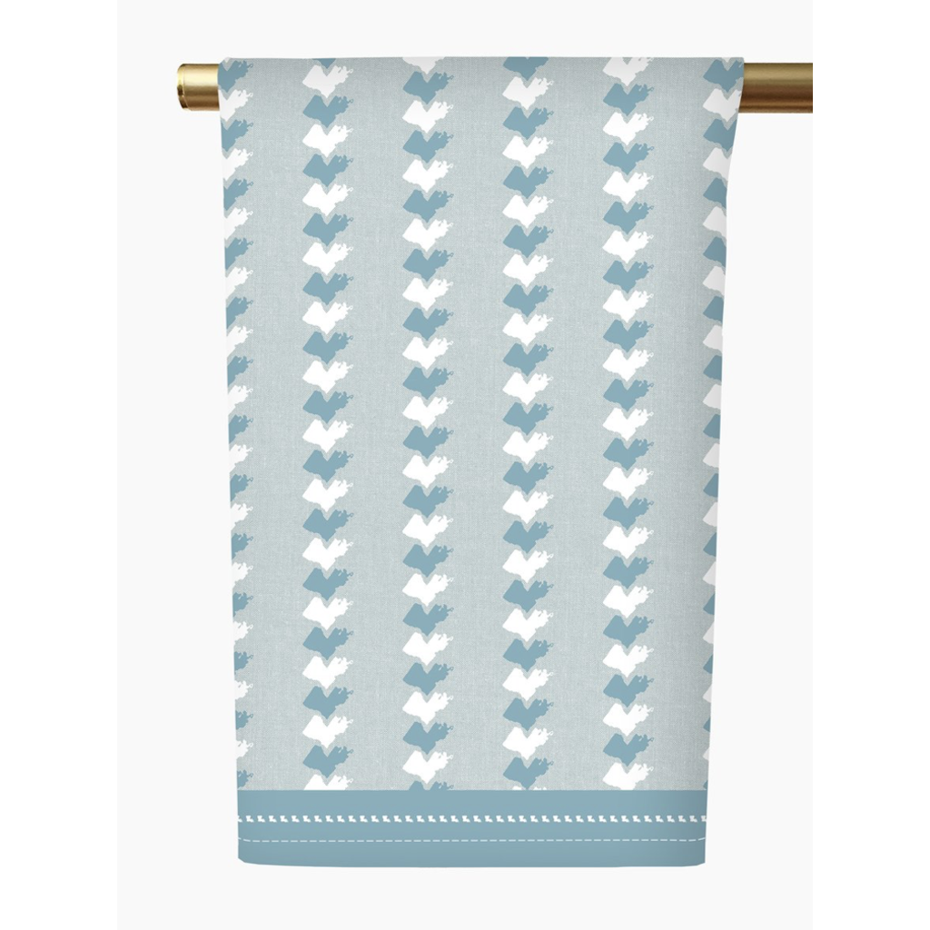 Honey and Hank Louisiana Stripe Tea Towel-cerulean