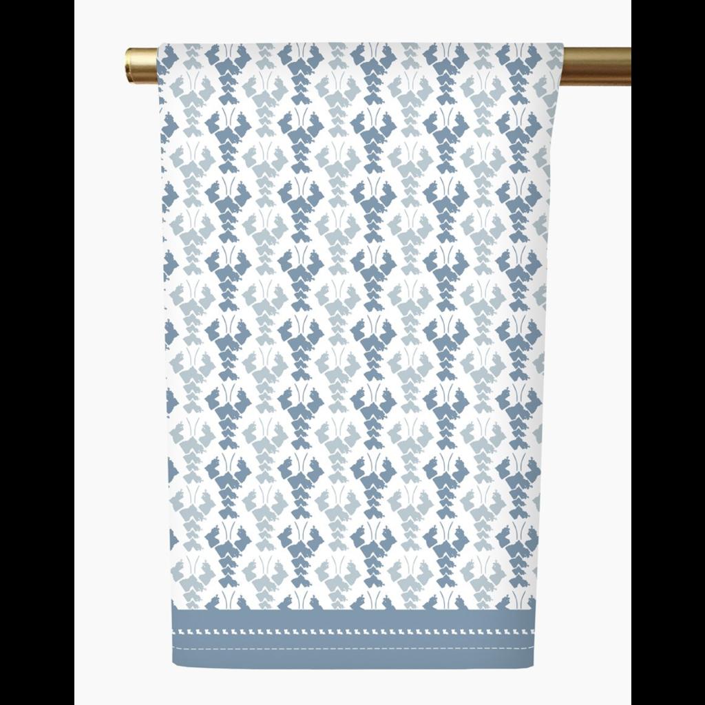 Honey and Hank Louisiana Crawfish Tea Towel-Blue smoke