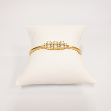 Sandy Hyun Gold Cuff With Pearl
