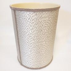 Jan Sevadjian Jan Sevadjian Grey Leaf Waste Basket
