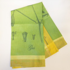 Garnier Thiebaut 'Gui Botanique Vert Kitchen Towel 22''''x30'''', 56cmx77cm, 100% Cotton''