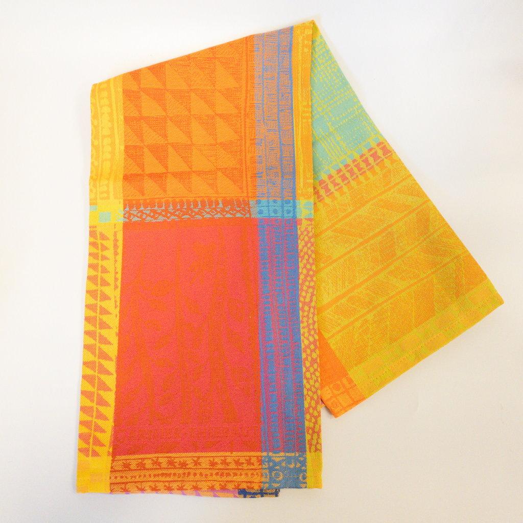 Garnier Thiebaut 'Mille Wax Tor Creole Kitchen Towel 22''''x30'''', 56cmx77cm, 100% Cotton''