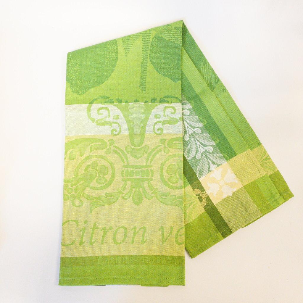 Garnier Thiebaut 'Citron Vert Kitchen Towel 22''''x30'''', 56cmx77cm, 100% Cotton''