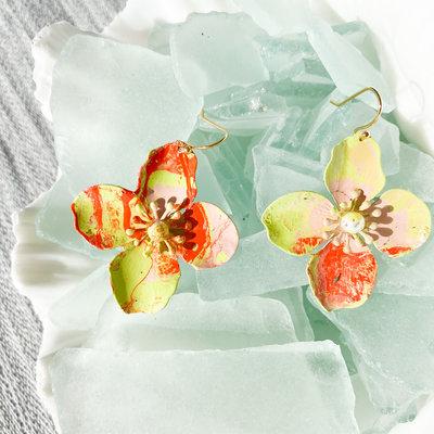 Laura McClendon McClendon Hand Painted Earrings 1