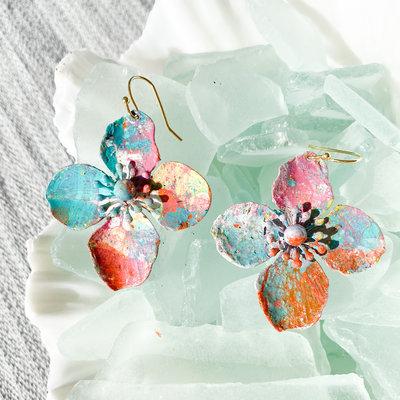 Laura McClendon McClendon Hand Painted Earrings 3