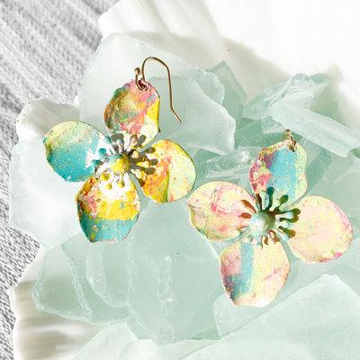 Laura McClendon McClendon Hand Painted Earrings 10