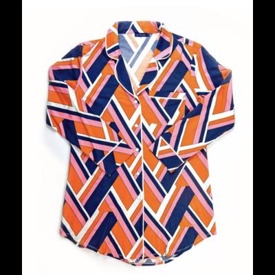 Katie Kime Lucy Navy Sleep Shirt XS
