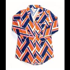 Katie Kime Lucy Navy Sleep Shirt M