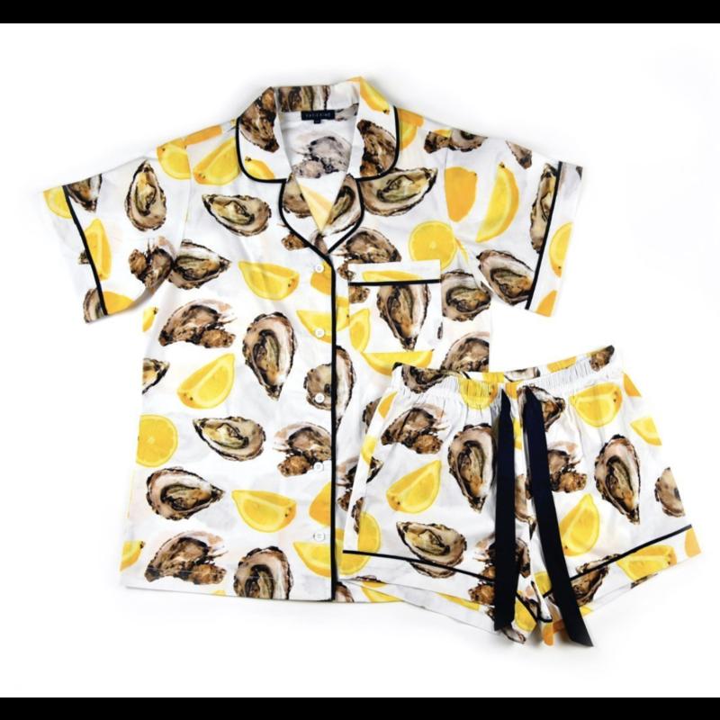 Katie Kime Oyster Short Sleeve Pajama Set S