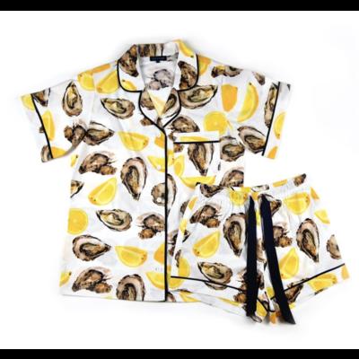 Katie Kime Oyster Short Sleeve Pajama Set M