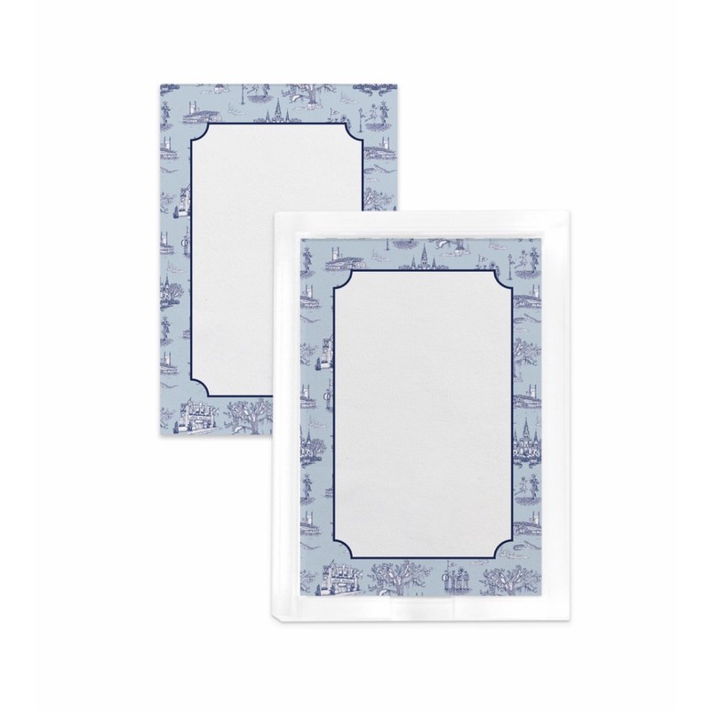 Katie Kime New Orleans Toile Notepad- Blue Navy