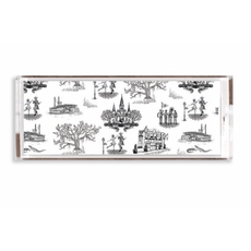 Katie Kime New Orleans Toile Lucite Tray- 11x4/ Black