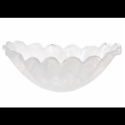 Vietri ONDA GLASS WHITE CENTERPIECE