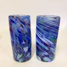 Ridge Walker Glass Ridge Walker Glass w/o foot- rainbow blue