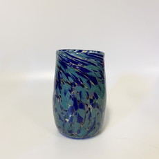 Ridge Walker Glass Ridge Walker Glass w/o foot- river blue