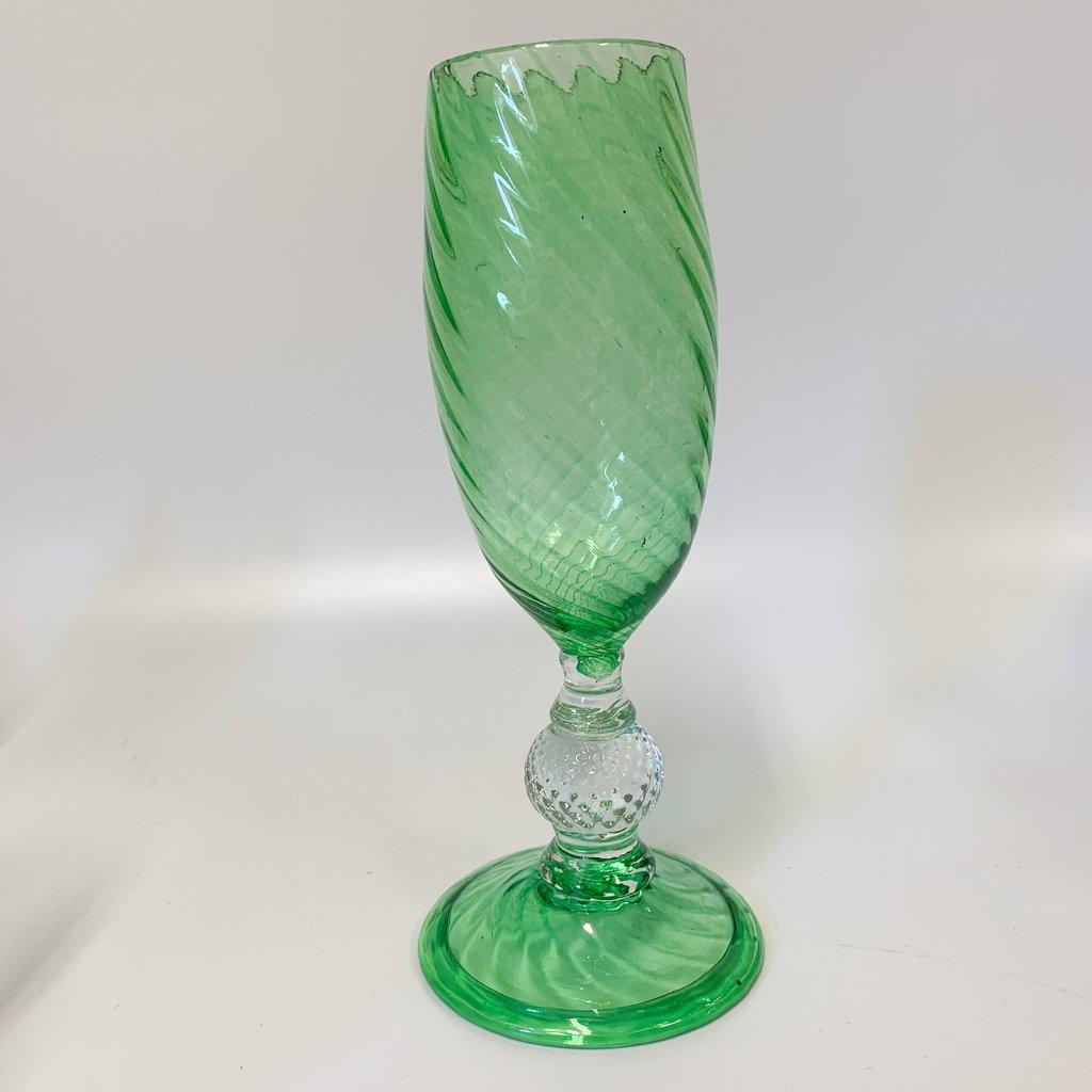 Ridge Walker Glass Ridge Walker Champagne Flute- green