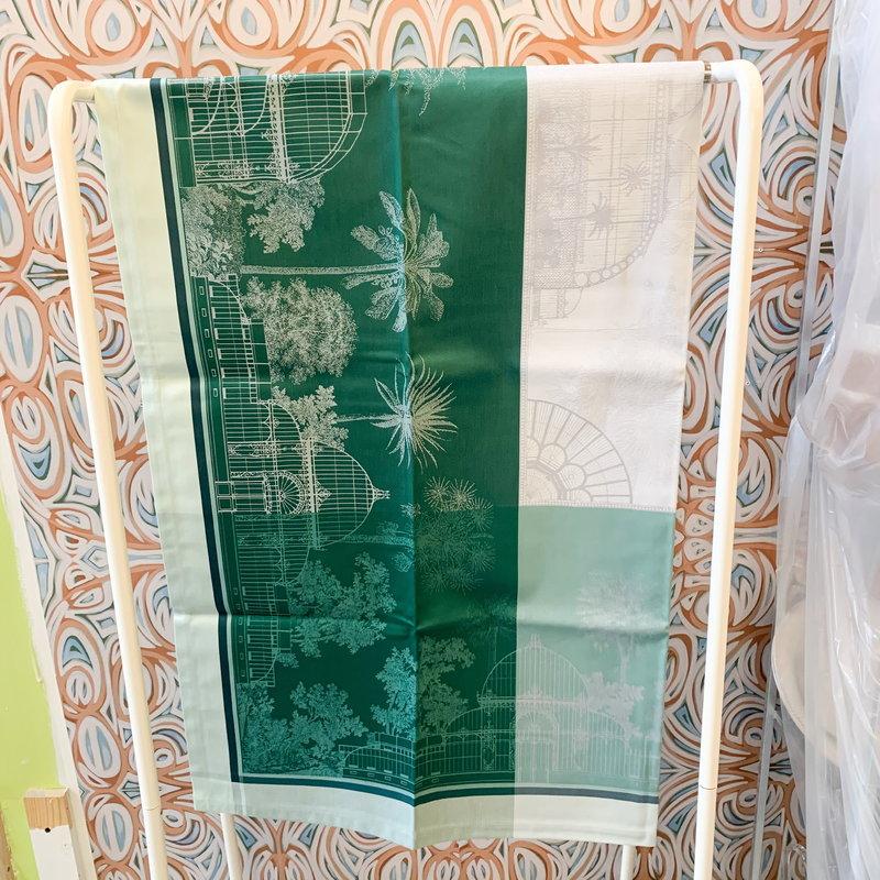 Garnier Thiebaut Garnier Thiebaut Vert Empire Table Cloth 69x69 inch