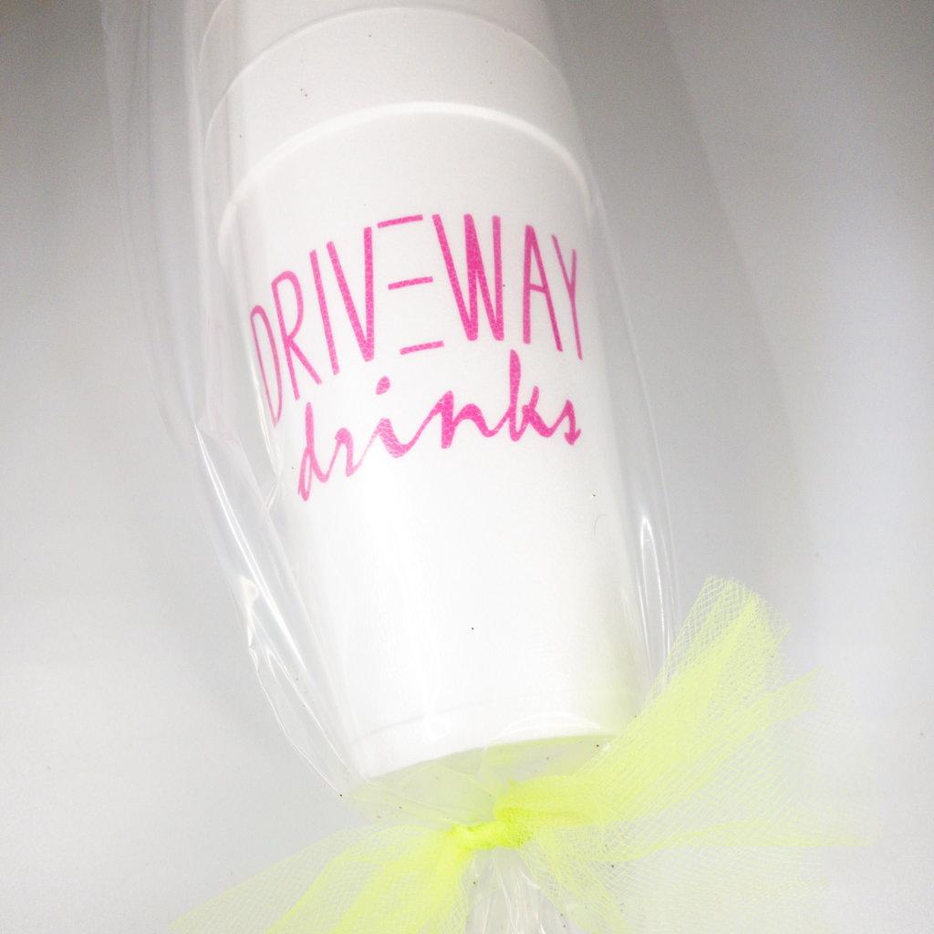 Elle Paperie Driveway Drinks Foam Cups- 20oz