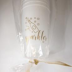 Elle Paperie Sparkler Frost Flex Cups- 14oz
