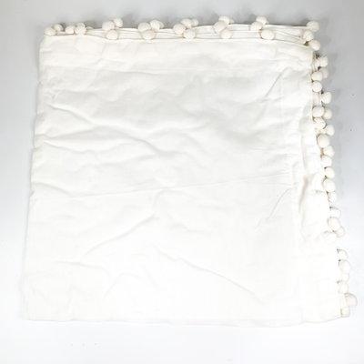 Abigails White Pom Pom Linen Napkin