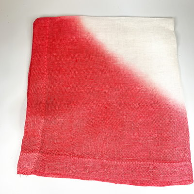 Abigails Tie-Dye Hot Pink Linen Napkin