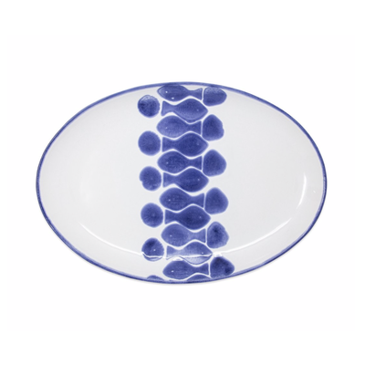 Vietri Santorini Fish Oval Platter